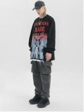 Hip Hop Letter Design Printed Unisex Sweatshirt