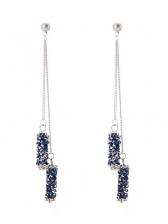 Chic Rhinestone Tassels Design Ladies Earrings
