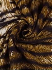 Mock Neck Leopard Printed Long Sleeve Dress
