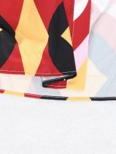 Boutique Geometric Printed Tie-Wrap Maxi Dress