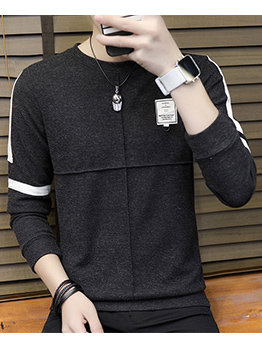 Contrast Color Patchwork Knitting Sweaters For Men