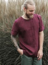 Stylish Solid Short Sleeve Male t Shirt