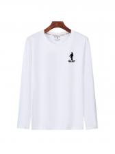 Crew Neck Embroidery Cotton t Shirt