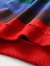 Iridescent Striped Loose Sweatshirts For Women