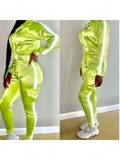 Sport Stripe Zipper Womens Sportswear