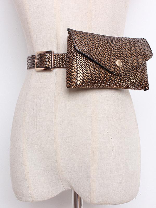 Vintage Removable Belt Woven Bumbag