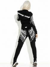Fashion Pockets Printed Fitness Clothing