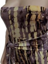 Plus Size Tie Dye Printed Tie-Wrap Strapless Jumpsuit