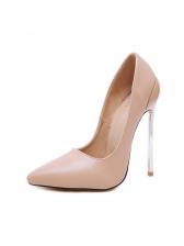 OL Style Minimalist Pointed Toe Slip On Stiletto Heels
