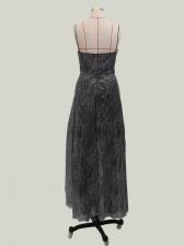 Shiny V Neck Slip High Split Prom Dress