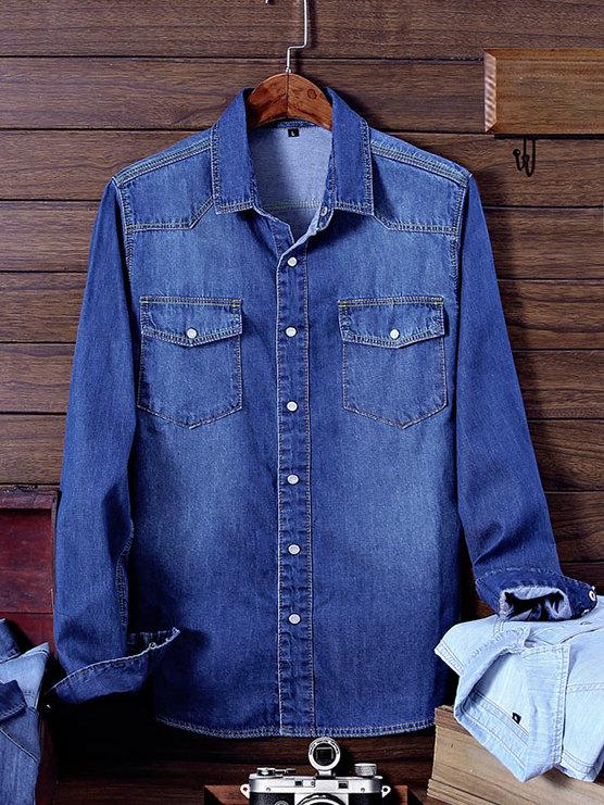 Vintage Solid Long Sleeves Shirt For Men