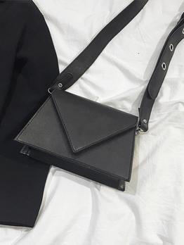 Contrast Color Triangular Buckle Over Shoulder Bags