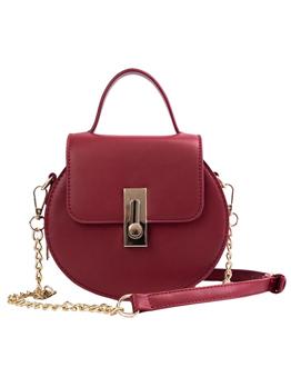 Fashion Solid Color Round Crossbody Bag