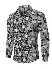 Long Sleeves Printed Mens Designer Shirts
