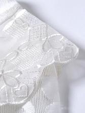 Elegant Solid Long Sleeve Lace Dress