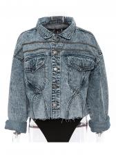 Vintage Winnter Long Sleeve Short Denim Jackets