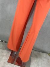 British Style Long Sleeve Blazer With Long Pants