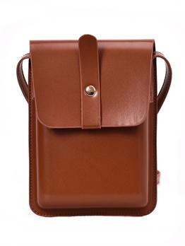 Simple Design Solid Crossbody Bag For Women