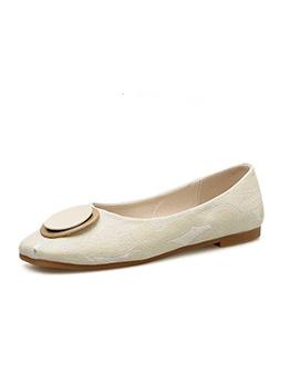 Fashion Buckle Knitting Flat Flats Shoes