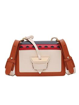 Contrast Color Square Design Crossbody Bags