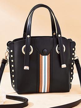 Large Capacity Rivets Patchwork Women Handbags