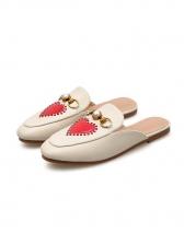 Fashion PU Patchwork Mules Shoes