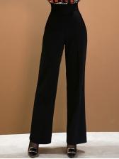 Ol Style Contrast Color Wide Leg 2 Piece Sets
