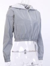 Elastic Waist Hooded Collar ladies coats sale