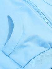 Sport Zipper Up Blue Short Coat
