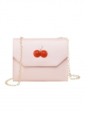 Cherry Decor Rectangle Chain Crossbody Bags