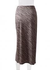 High Waist Animal Printed Midi Skirt