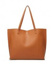 Minimalist Style Tassel Skinny Belt Large Tote Bags