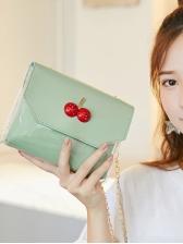 Transparent Patchwork Cherry Decor Chain Bag