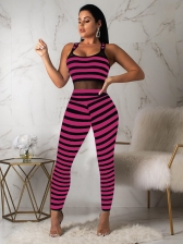 Hot Sale Striped Sleeveless Jumpsuits For Women