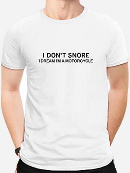 Casual Cotton Short Sleeve Letter t Shirt Design