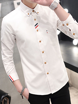 New Style Contrast Color Shirts For Men