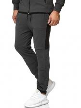 Sport Style Patchwork Long Pants For Men