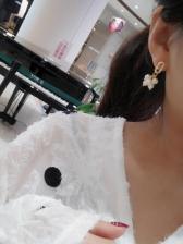 Trendy Faux Pearls Tassel Asymmetrical Earrings