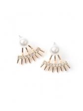 Contrast Color Mini Rhinestone Drop Earrings