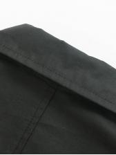 Lapel Collar Double-Breasted Black Blazer Dress