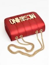 Letter Decor Twist Lock Crossbody Bag For Women
