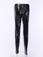 Punk Style PU Skinny Long Pant