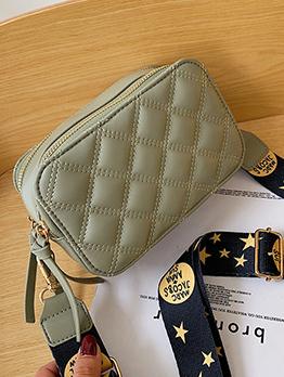 Rhombus Wide Strap Shoulder Bag