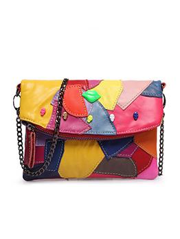 Fashion Mini Patchwork Chain Crossbody Bags