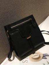 Vintage Solid Color Shoulder Bags For Women