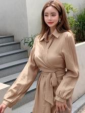 Elegant Slim Fit Slip Two Piece Dress