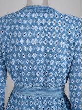 Crew Neck Hole Tie Wrap Boutique Denim Coat
