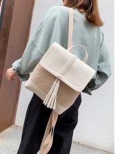 Tassels Woven Design Outdoor Backpacks For Women