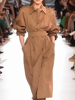 Vintage Stringy Selvedge Long Sleeve Boutique Long Coat
