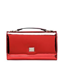 Minimalist Specular Pu Flat Women Crossbody Bags